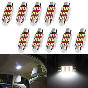 10X-39mm-4014-12SMD-C5W-LED-Canbus-Festoon-Dome-Lamp-Car-License-Plate-Light