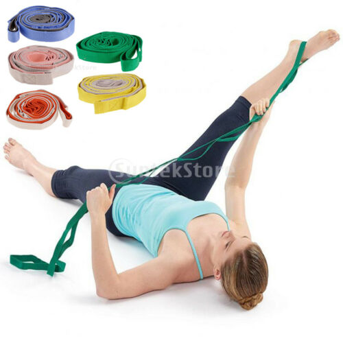 7.8 ft Yoga Fitness Stretch Out Strap Home Gym Exerciser Stretching Trainer