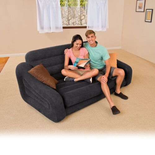 Intex Queen Inflatable Pull-Out Sofa Bed 26 x 87 x 76 Inches