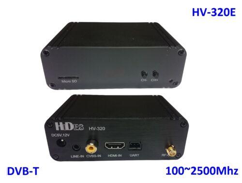 HV-320E FPV Full HD Video Transmitter 100~2500Mhz HDMI// CVBS to DVB-T modulator