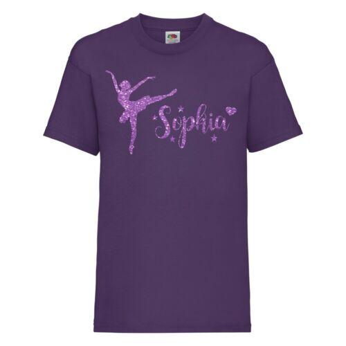 Enfants Gymnastique Choix De Design T-SHIRT personnalisé beaucoup de couleurs 3-13 NEUF