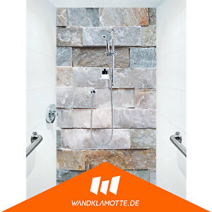Detalles de Duschrückwand una Bandeja Aluminio Cuarto de Baño Ducha Pared  Mineral Stones
