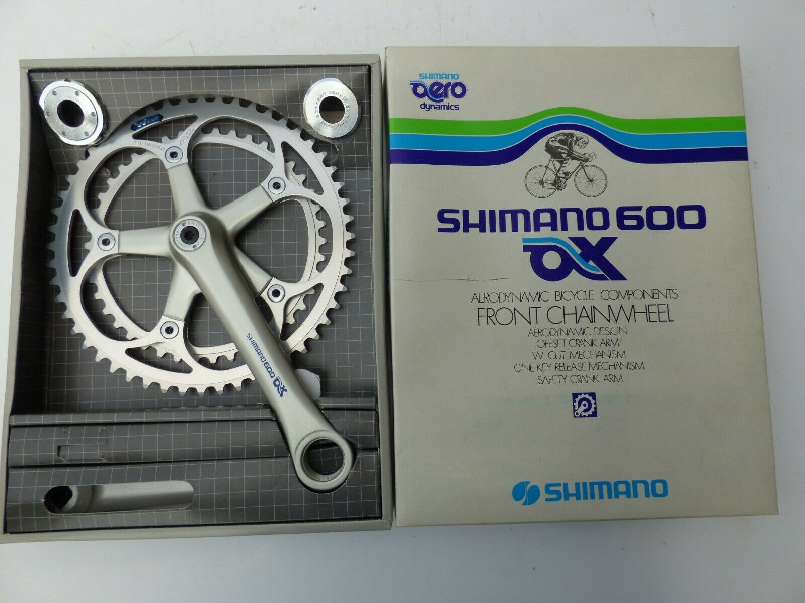 SHIMANO 600 AX FC-6300 CRANKSET 42 52 + ENGLISH BB - NOS - NIB