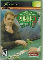 World Championship Poker 2 Featuring Howard Lederer (xbox, 2005) Factory Sealed
