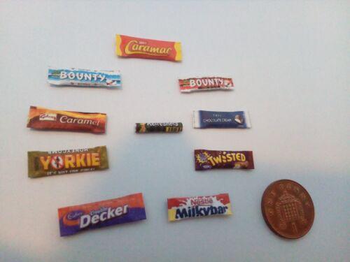 Escala 1//12 paquetes surtidos dulce Conjunto de 10 Para Casa De Muñecas Miniaturas ***