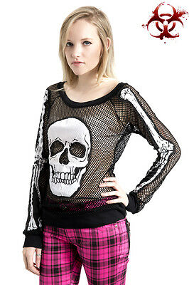 JAWBREAKER FISHNET GOTH TATTOO SKULL PUNK ROCK GOTHIC ZOMBIE ROCKABILLY SHIRT