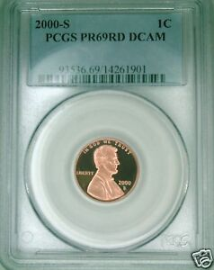 2000-S-PCGS-PR69DCAM-proof-Lincoln-cent-deep-cameo-red