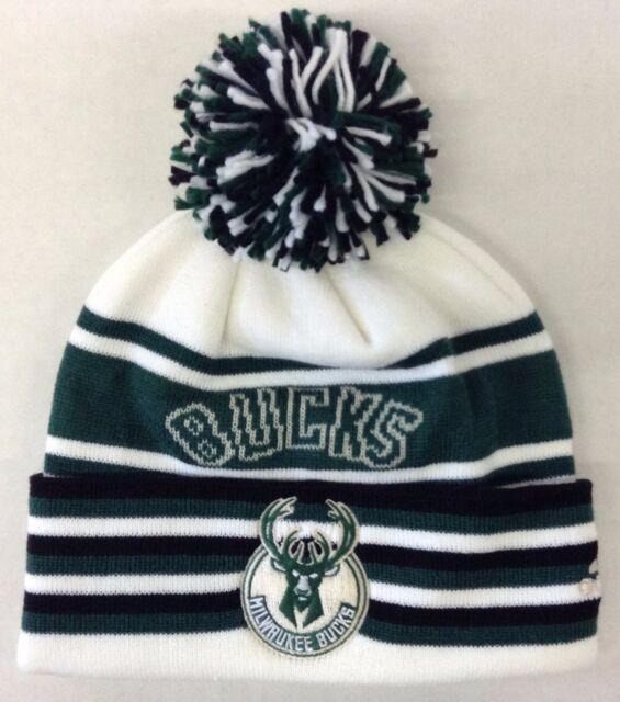 373f3e26922 NBA Milwaukee Bucks Adidas Cuffed Pom Winter Knit Cap Hat Beanie Style   KX05Z
