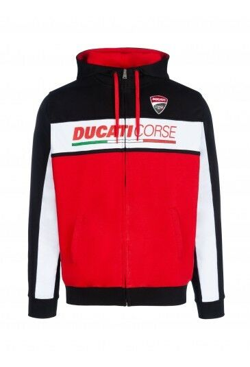 2018 Official Ducati Corse Racing Zip Up Hoodie - 18 26001