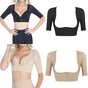 Women s Shapewear Tops Short Sleeve Crop Top Arm Shapers Slimming ... 0d51b8a3264d