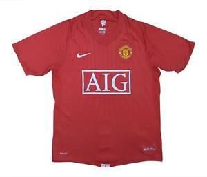 Manchester United 2007-09 Authentic Home Shirt (OTTIMO) S Soccer Jersey