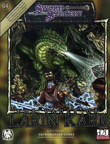 G4 DIE VAULT VON LARIN KARR NM Sword && && && Sorcery Module Adventure S&S D b39