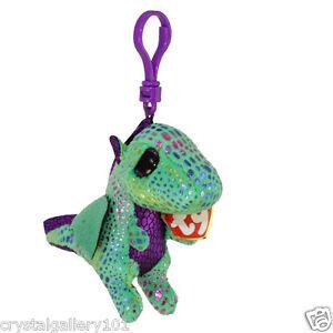 09c50cfaa80 TY Beanie Babies Boo s Cinder Dragon Key Clip 3 Inch Stuffed Plush ...
