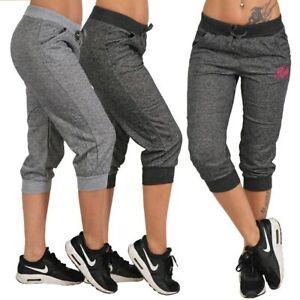 Pantalones De Moda Deportivo Para Mujer Medias Con Bolsillos Casual Fitness Yoga Ebay
