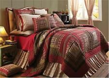 Tacoma Queen Log Cabin Patchwork Design Quilt by VHC Brands