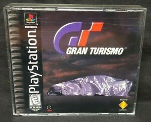 Gran-Turismo-Black-Playstation-1-2-PS1-PS2-Game-Rare-Works-Near-Mint-Discs