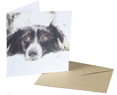 Watercolour Design Cocker Spaniel Dog Design Blank Card for any Special Occasion
