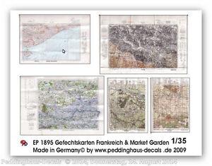 Peddinghaus-1895-1-35-MAPAS-DE-COMBATE-Francia-y-market-garden-PAPEL-IMPRESO