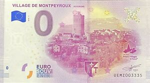 BILLET-0-EURO-VILLAGE-DE-MONTPEYROUX-FRANCE-2018-NUMERO-DIVERS