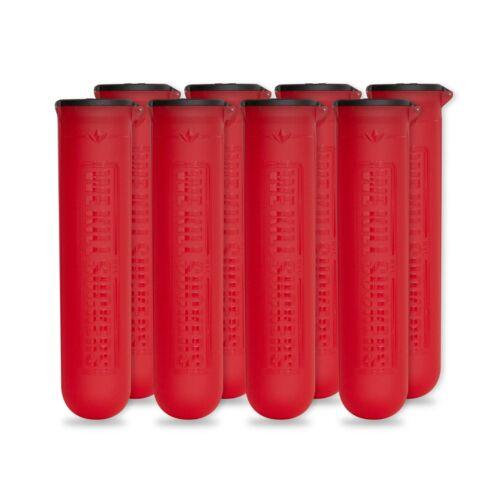8 Pack Bunkerkings ESC Paintball Pods Red