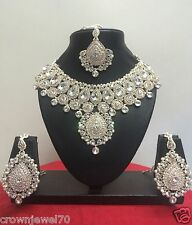 Indian Bollywood Designer Gold Plated Wedding Bridal Jewelry Necklace Set