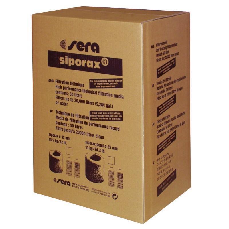 50 litri SERA siporax POND FILTRO Medium filtro per laghetto BIOFILTER koiteich 08480