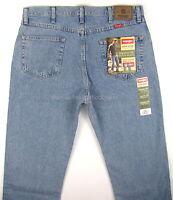 Wrangler Jeans Mens Regular Fit - Light Stonewash Size 38 X 32 Straight Leg