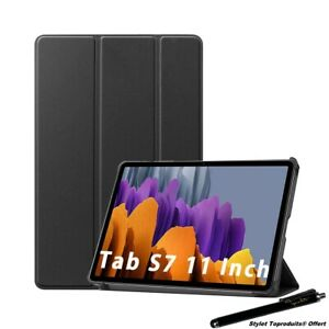 """Coque Smart Noir Premium pour Samsung Galaxy Tab S7 Plus 12.4"""" 2020 T970"""