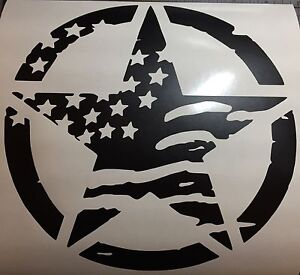 Jeep Oscar Mike Star X 2 American Flag Or Grill Set Decal