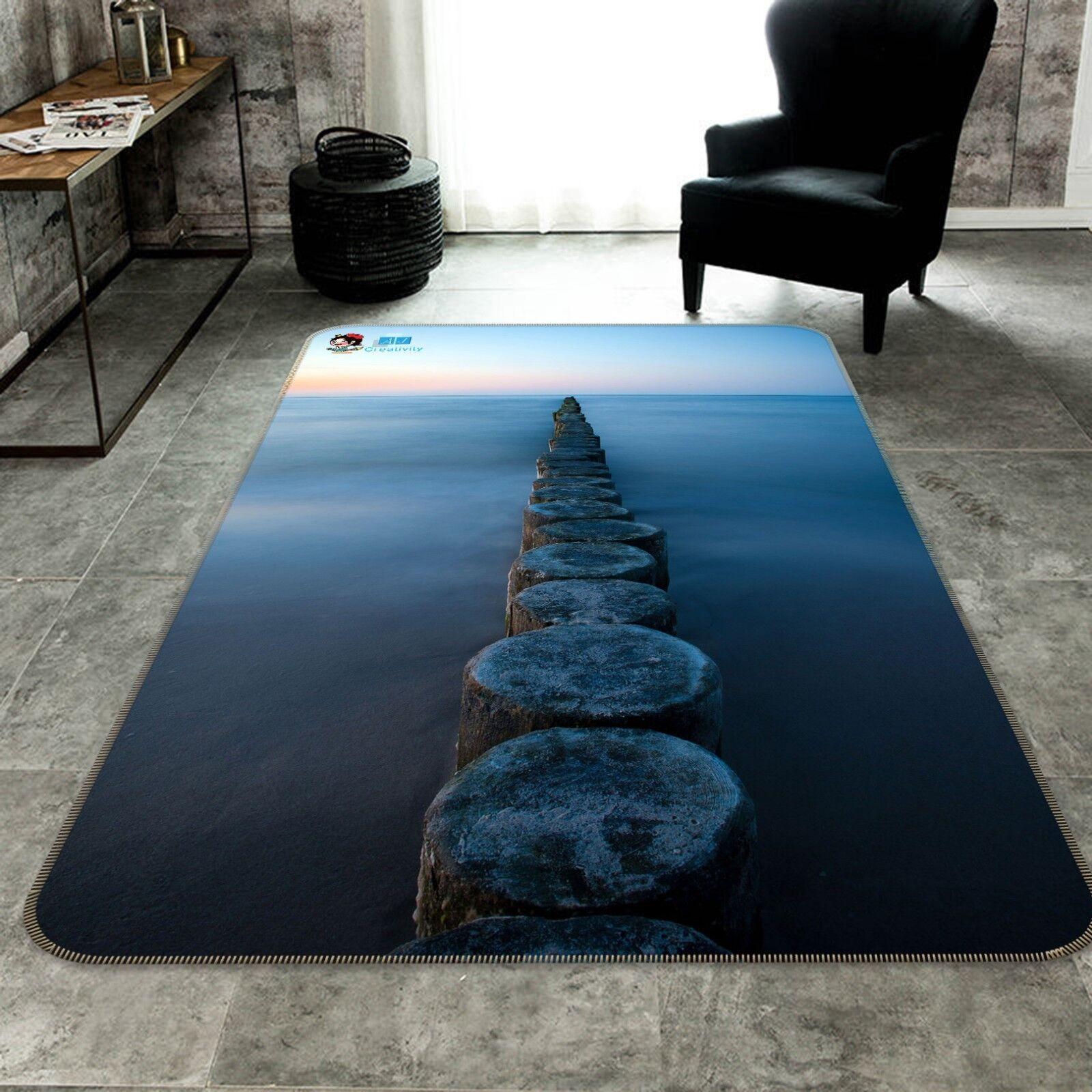 3D Pietra Ponte 312 Pavimento Antiscivolo Tappeti Elegante Tappeto IT Summer