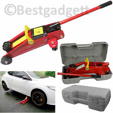 2T Ton Hydraulic Trolley Floor Jack Caravan Car Garage 2000kg Lift In Blowcase
