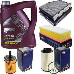 Filter-Paket-Set-5W30-Motoroel-1-9-2-0-TDI-VW-Touran-1T1-2-Passat-3C-Caddy-III