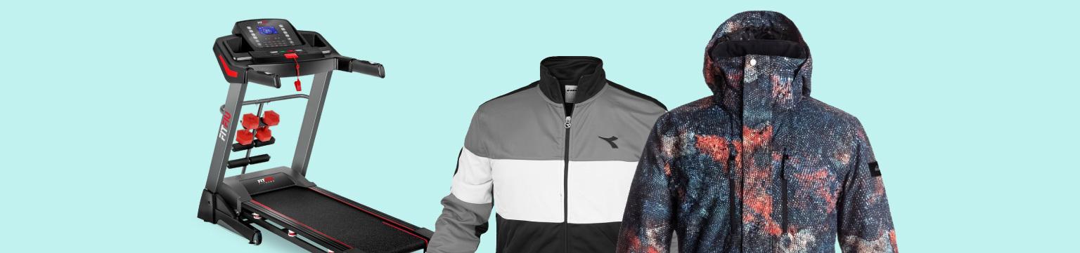 Abbigliamento e attrezzi sportivi fino a -50%