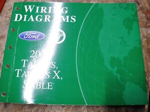 2008 FORD TAURUS TAURUS X MERCURY SABLE FACTORY WIRING ...