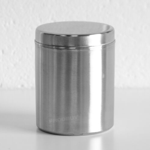 2L Brushed Stainless Steel Kitchen Storage Canister Biscuit Tin Cookie Barrel