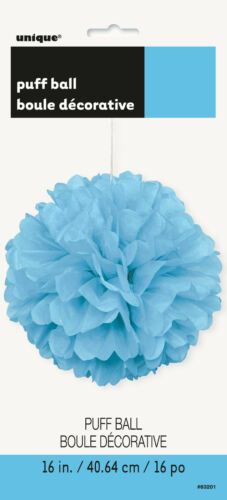 Puff Ball //Puff Decor 16in//40.64cm Coloured Hanging Decoration Birthday Party