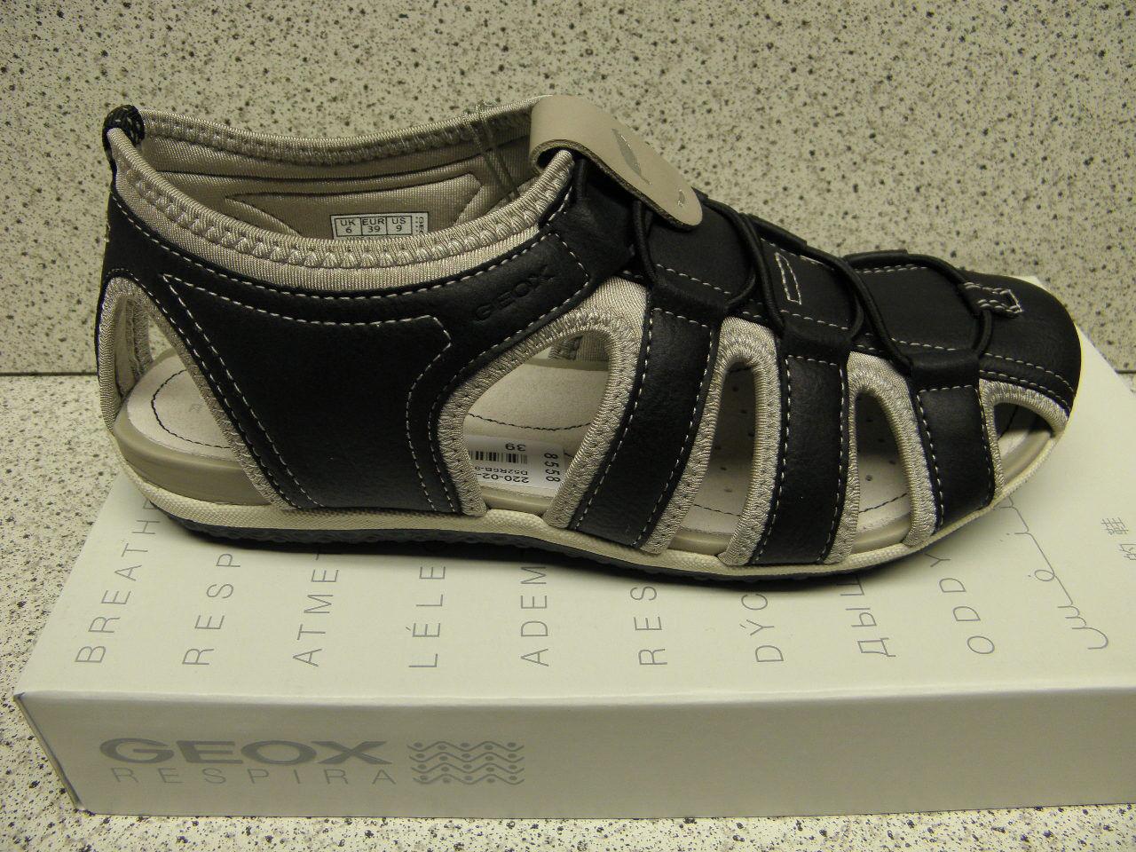 GEOX®  reduziert  Outdoor schwarz NEU Top Preis + gratis Premium-Socken (G14)