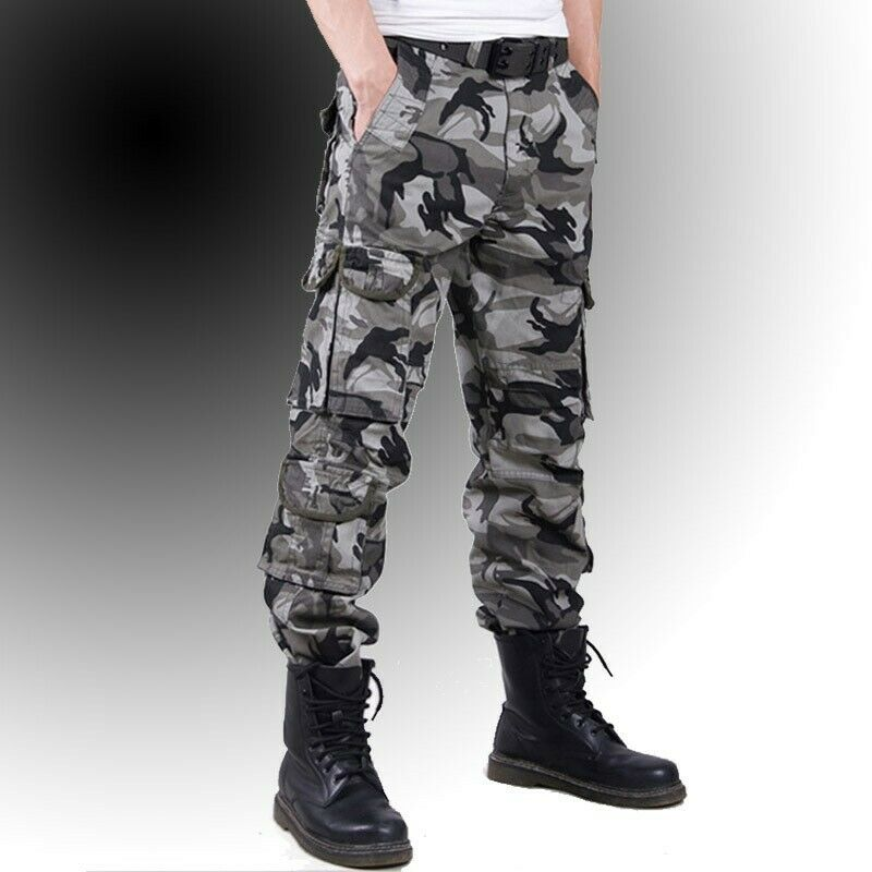 High End Hombre  Ejército al aire libre en general Camuflaje tácticas Correr Pantalones de vestir pantalones largos  tienda