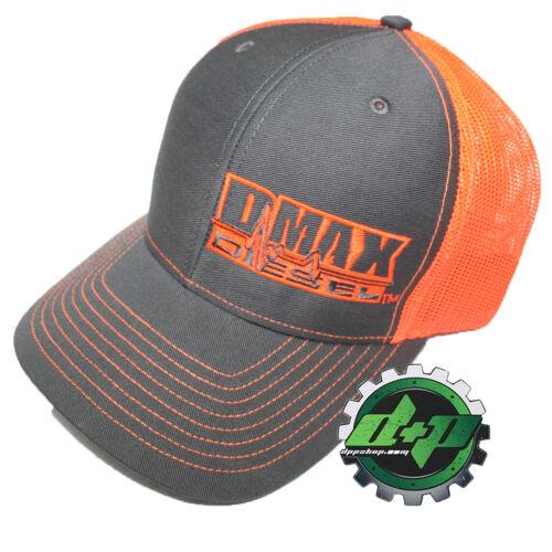 Duramax diesel Richardson trucker hat ball mesh NEON ORANGE snap back mesh Dmax