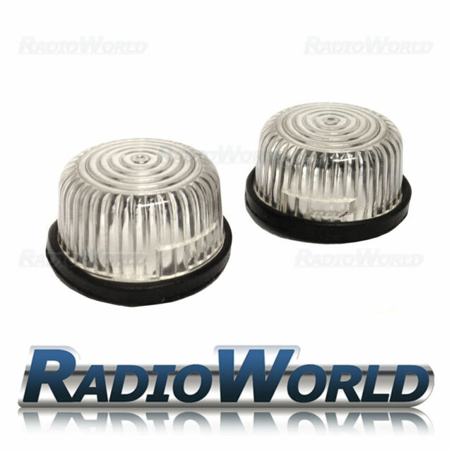 Vauxhall Clear / White Round Side Repeaters Indicators Lights Lenses Lens