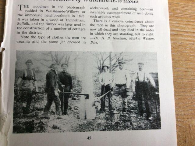 q1-L ephemera 1958 picture the woodmen of walsham le willows