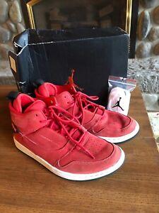 Nike-Air-Jordan-1-Mid-Red-Sneakers-Shoes-554724-125-Sz-8-5-Men-s-With-Box