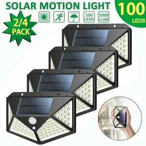 Solar-100LED-Outdoor-Powered-Wall-Lamp-Motion-Sensor-Waterproof-Security-Light