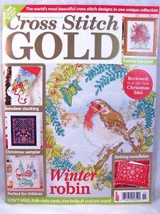 Cross-Stitch-Gold-UK-Magazine-Feb-2015-Issue-46-Christmas-Stocking-Winter-Charts