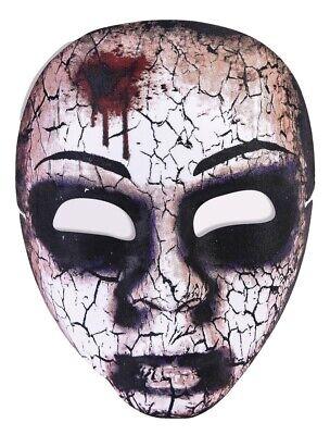 Little Girl Face Mask Walking Dead Zombie Halloween Adult Costume Accessory