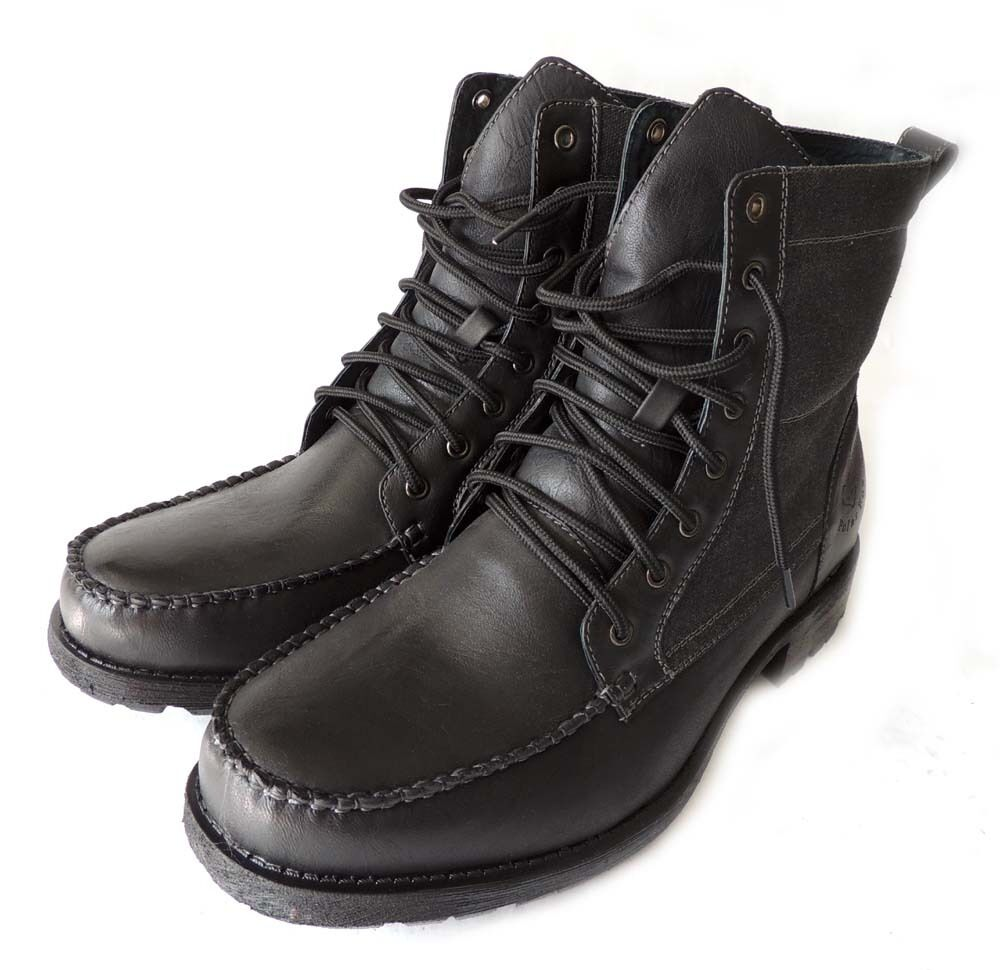 NEW MENS MILITARY COMBAT STYLE ANKLE BOOTS LEATHER LINED SHOES LACE UP BLACK 7.5