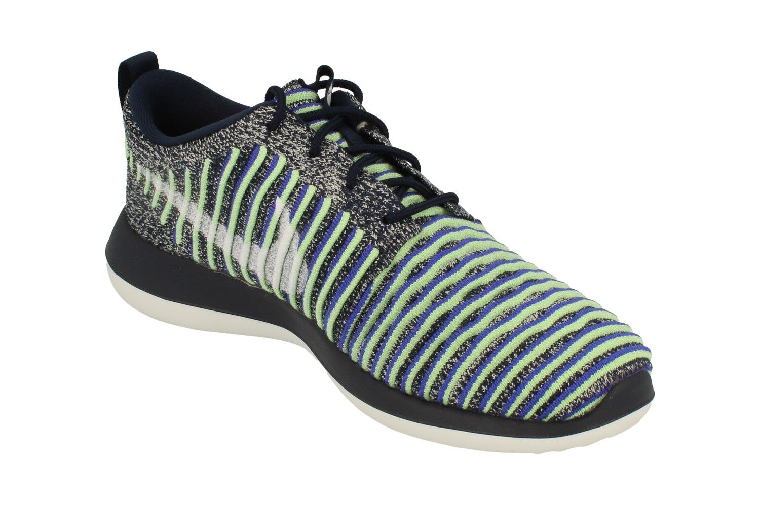 880b6880fede Nike Roshe Two Flyknit Womens 844929-401 Navy Binary Blue Running Shoes  Size 8 for sale online