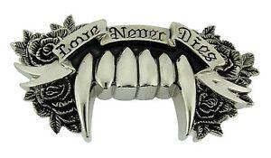 Love-never-dies-rock-rebel-belt-buckle-gothic-tribal-celtic-men-women-girly-new