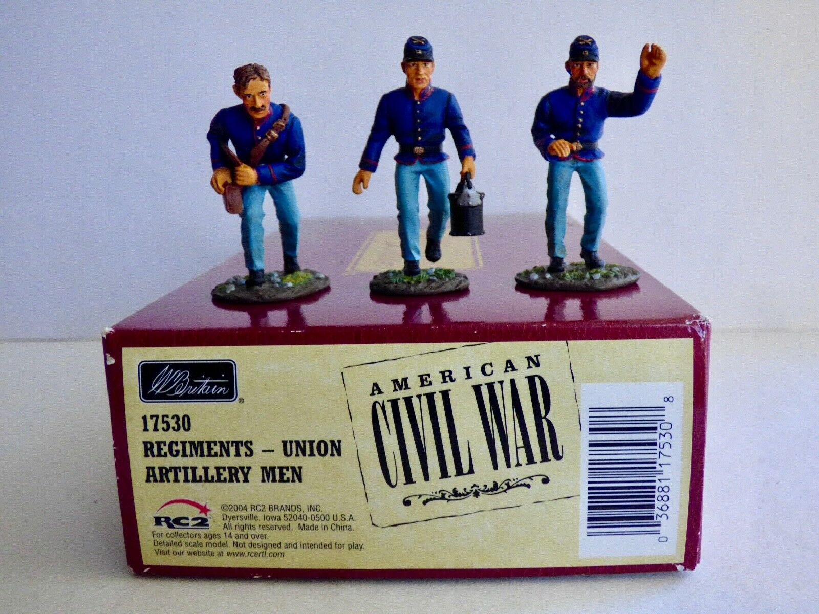 BRITAINS 17530 ACW.  UNION ARTILLERY MEN.