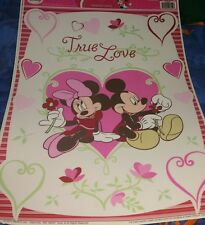 Disney Mickey and Minnie Mouse Valentine's Day Window clings True Love
